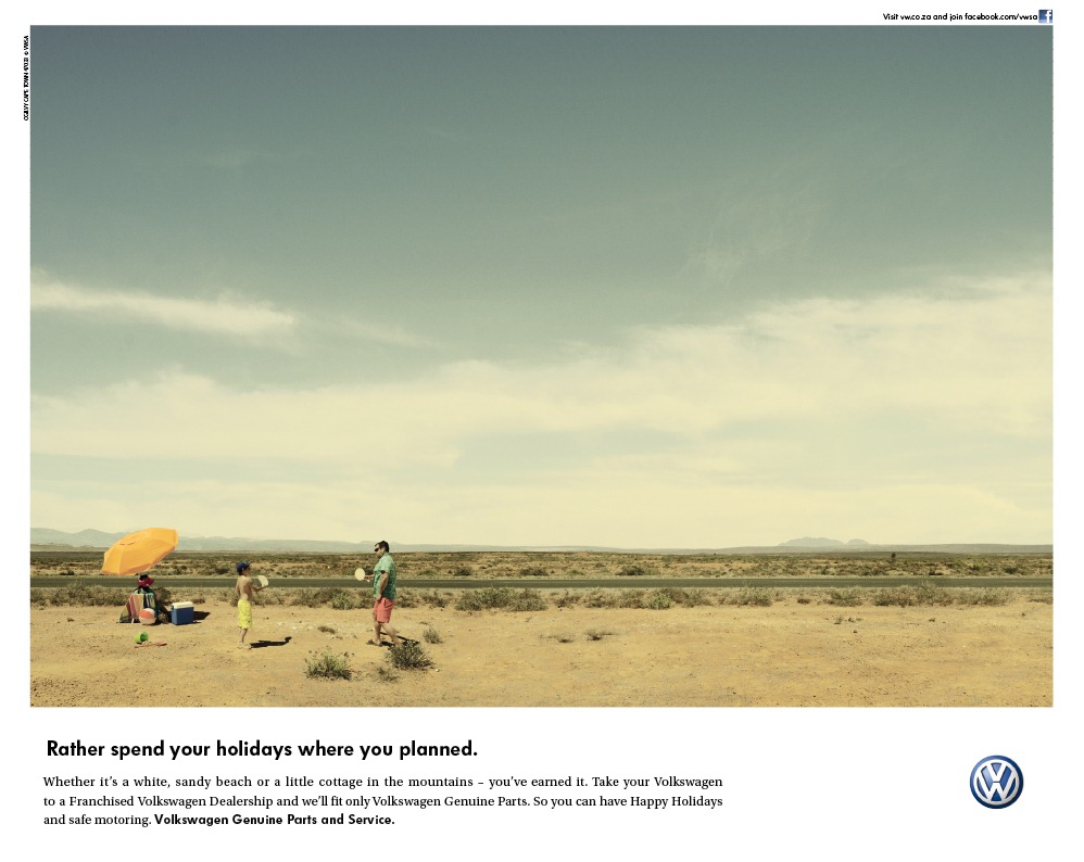 we launched the above print campaign for Volkswagen's Genuine Parts