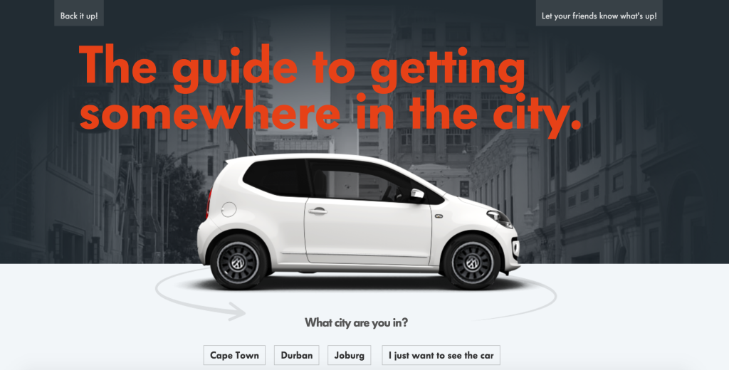 Volkswagen up! Website