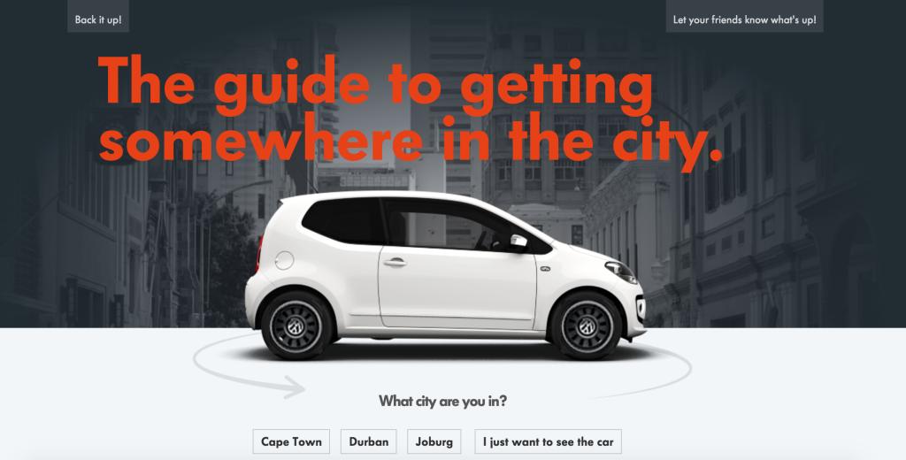 Volkswagen up! Website