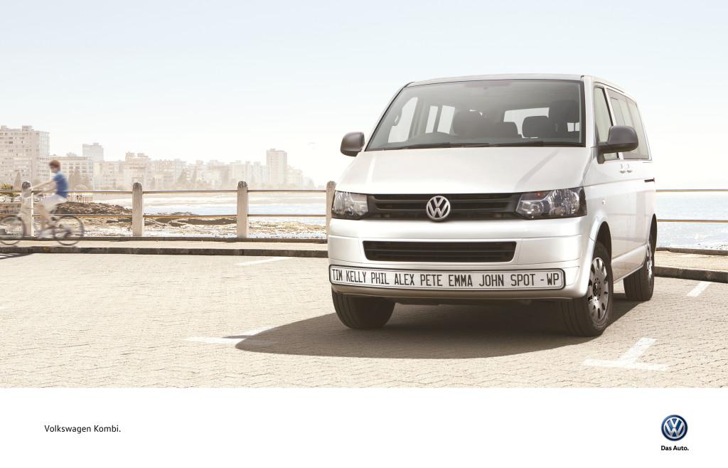 VW Kombi License Plate